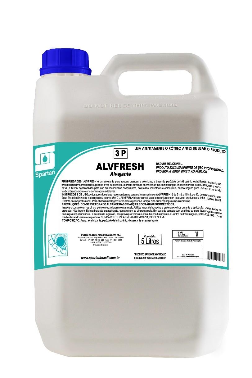 Alvejante para tecidos brancos e coloridos 5 Litros - ALVFRESH - Spartan