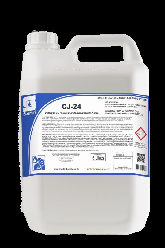 Detergente Profissional Desincrustante Ácido CJ-24  SPARTAN 5 LITROS
