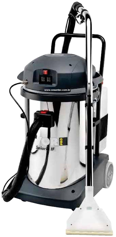 Extratora e aspirador 2 em1 Carpetes e estofados Solaris Inox 78L - 2400W - Profissional -Lavor-Wash