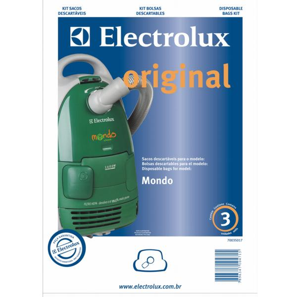 Kit saco descartavel Mondo Original - Electrolux