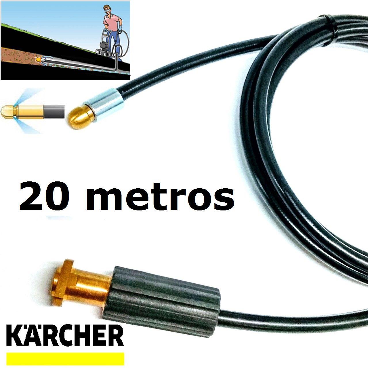 Mangueira desentupidora de tubulação para Karcher 20 Metros - k1 , k2 , k3 , k4 , k5