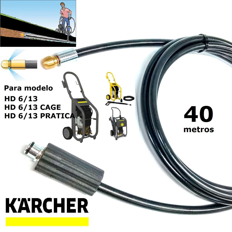 Mangueira Desentupidora De Tubulação 40 METROS HD 6/13 - Karcher