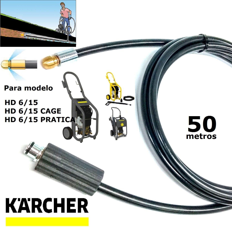 Mangueira Desentupidora De Tubulação 50 METROS HD 6/15 - Karcher