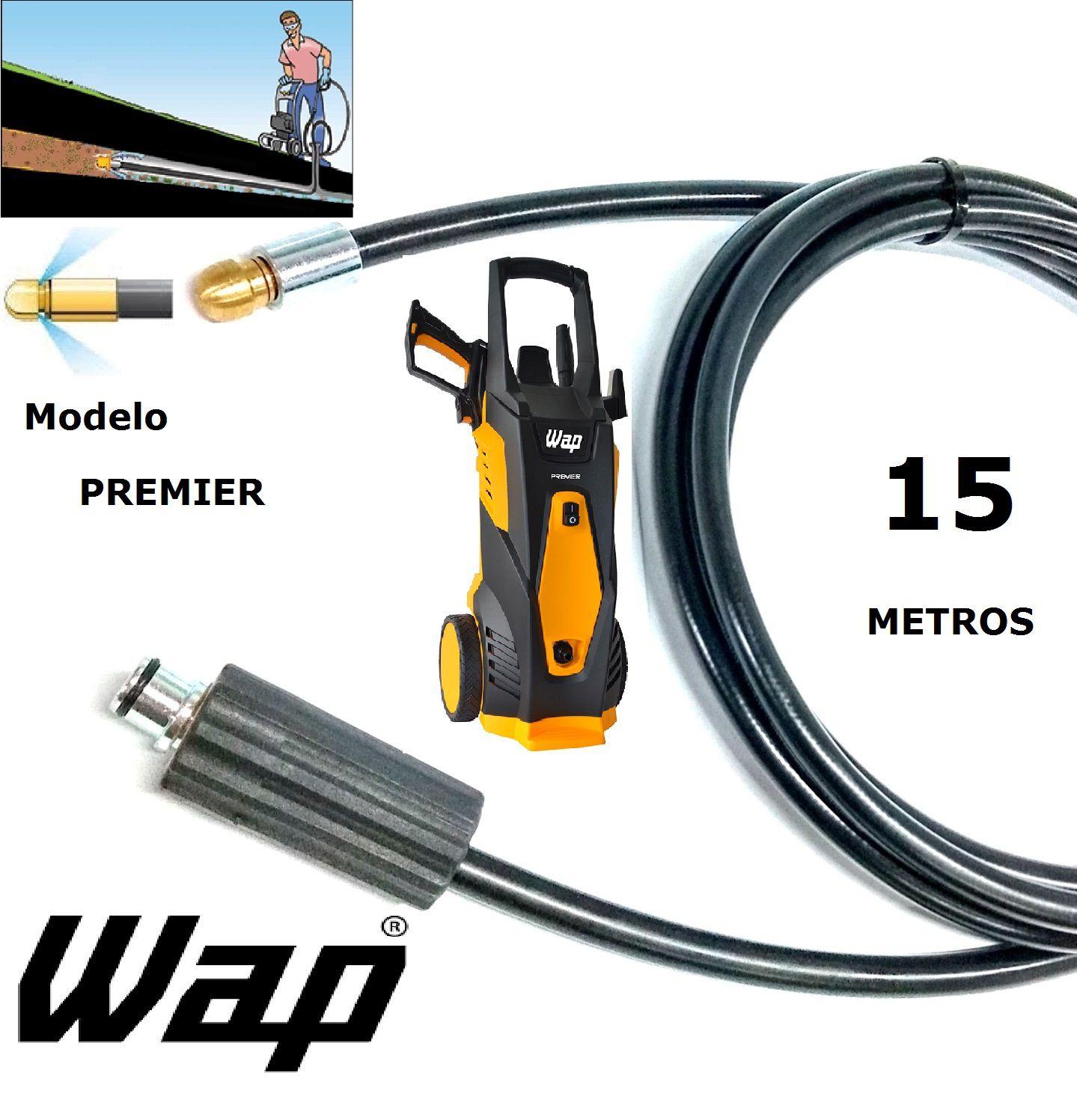 Mangueira desentupidora de tubulação WAP - 15 Metros - Wap PREMIER