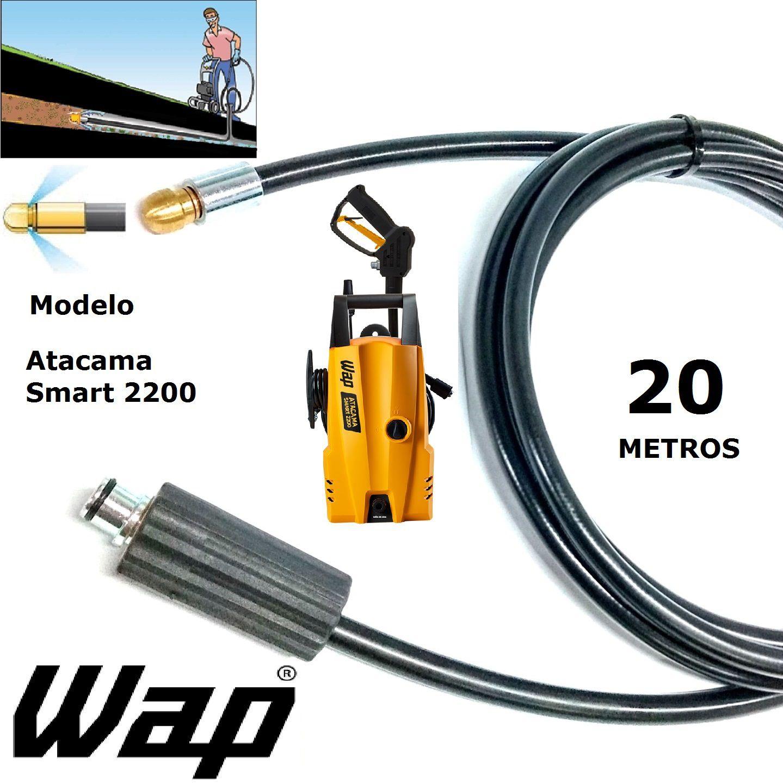 Mangueira desentupidora de tubulação WAP - 20 Metros - Wap ATACAMA SMART 2200