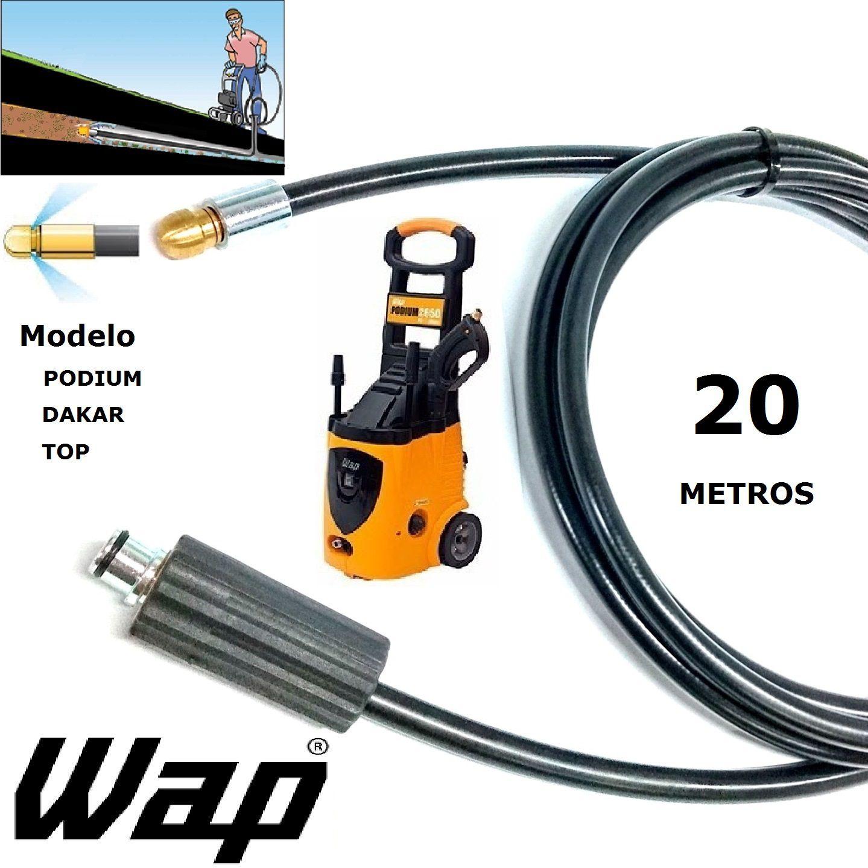 Mangueira desentupidora de tubulação WAP - 20 Metros - Wap DAKAR