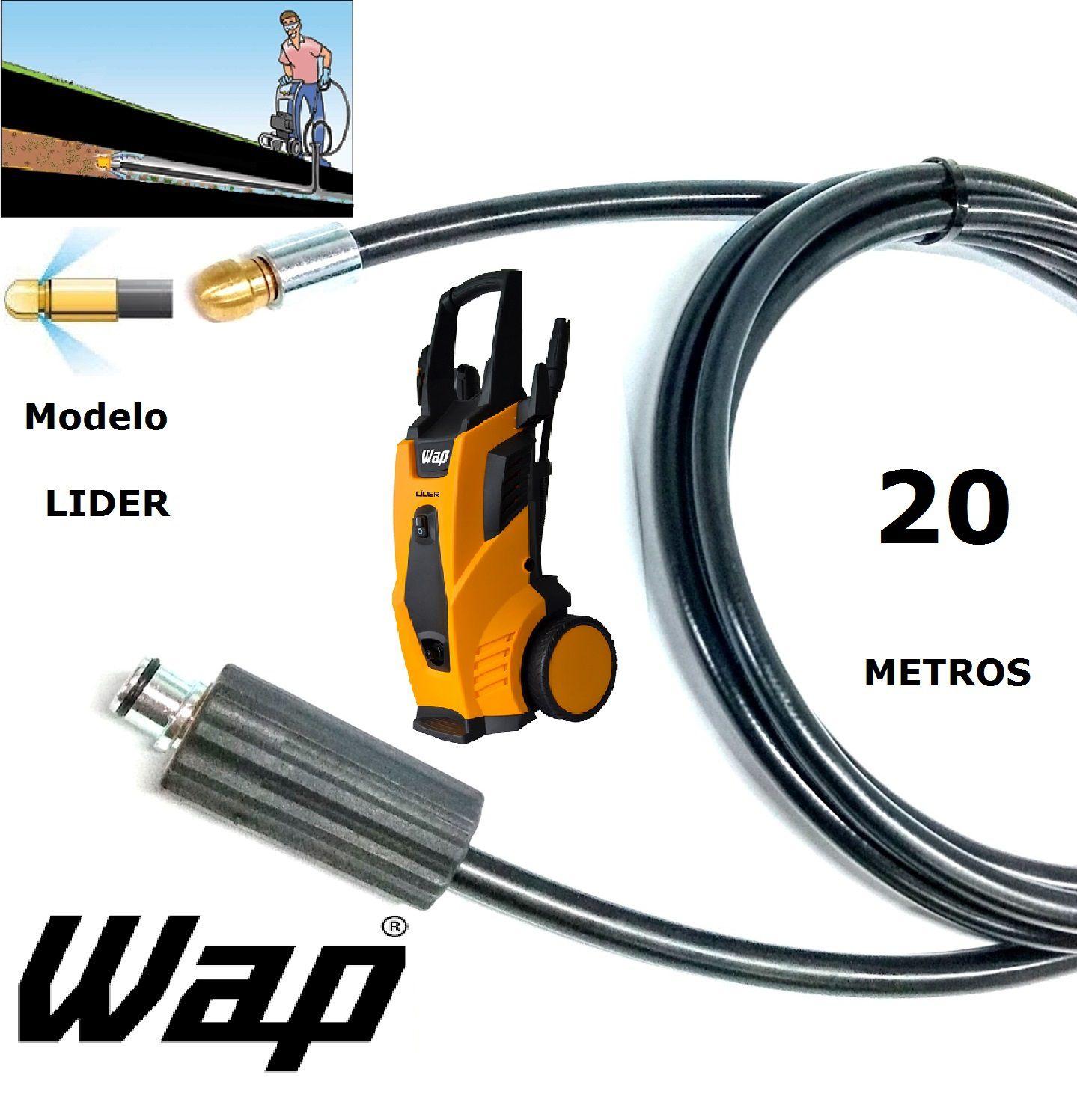 Mangueira desentupidora de tubulação WAP - 20 Metros - Wap LIDER