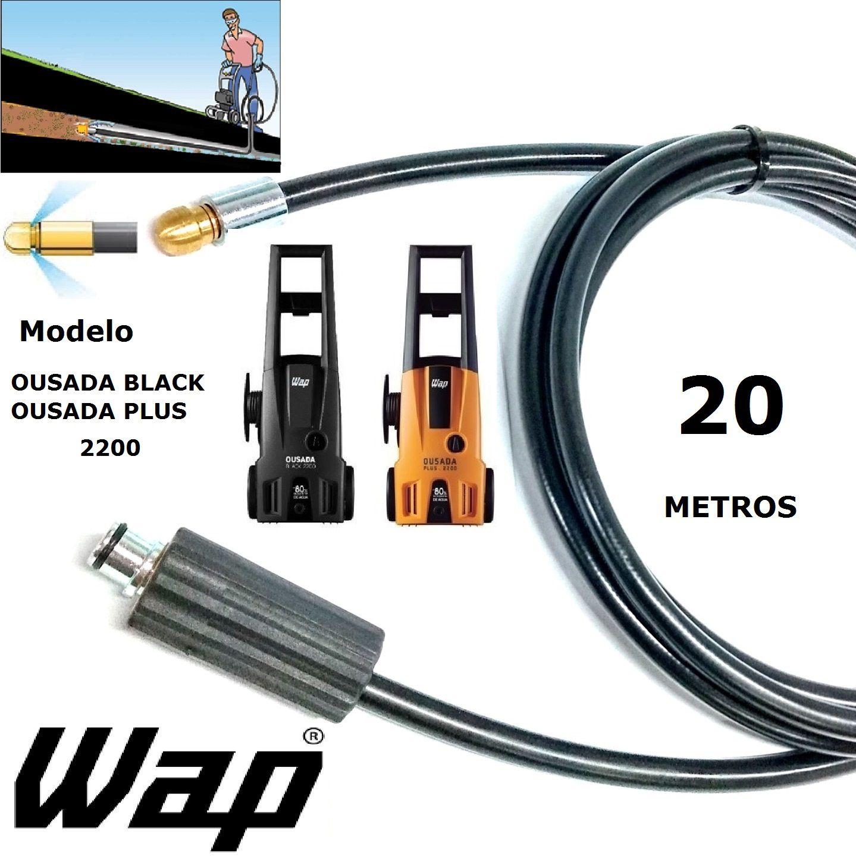Mangueira desentupidora de tubulação WAP - 20 Metros - Wap OUSADA BLACK PLUS 2200