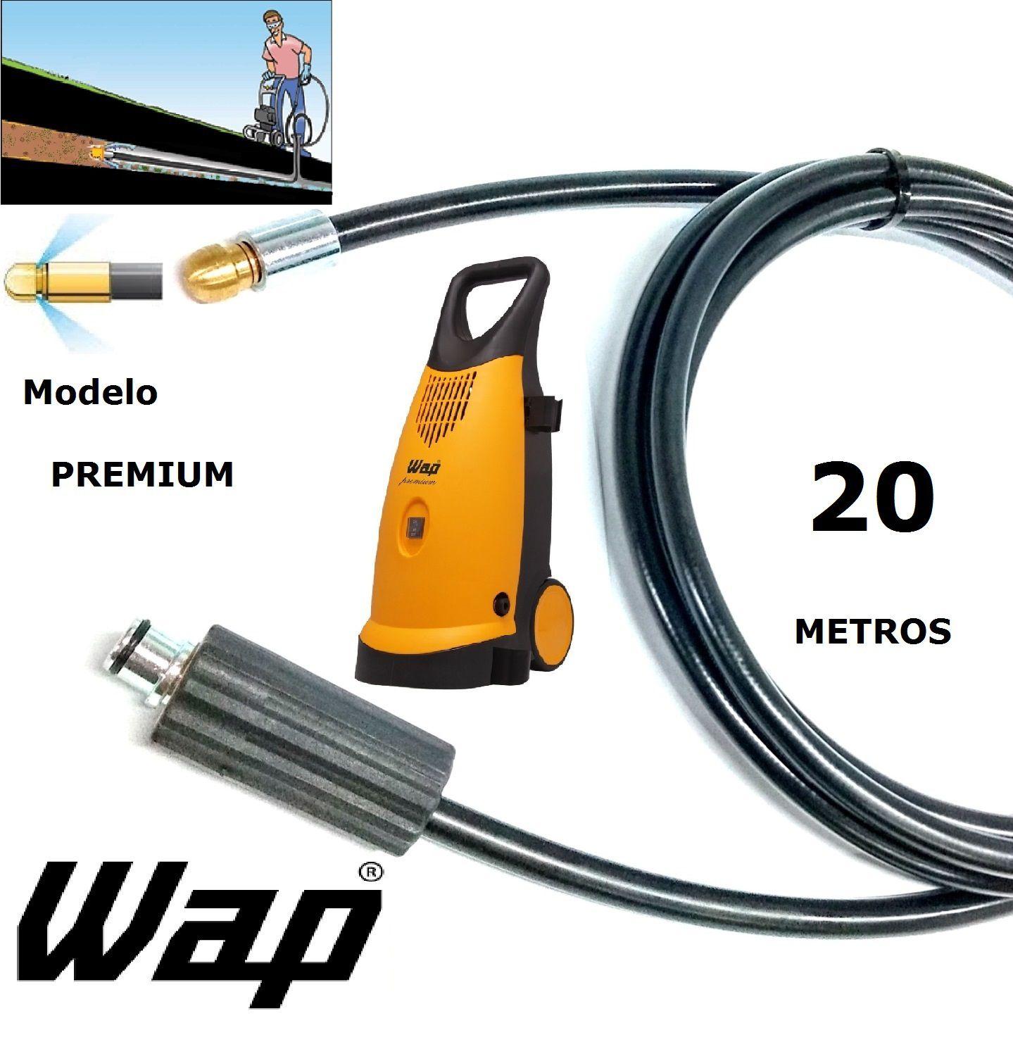 Mangueira desentupidora de tubulação WAP - 20 Metros - Wap PREMIUM
