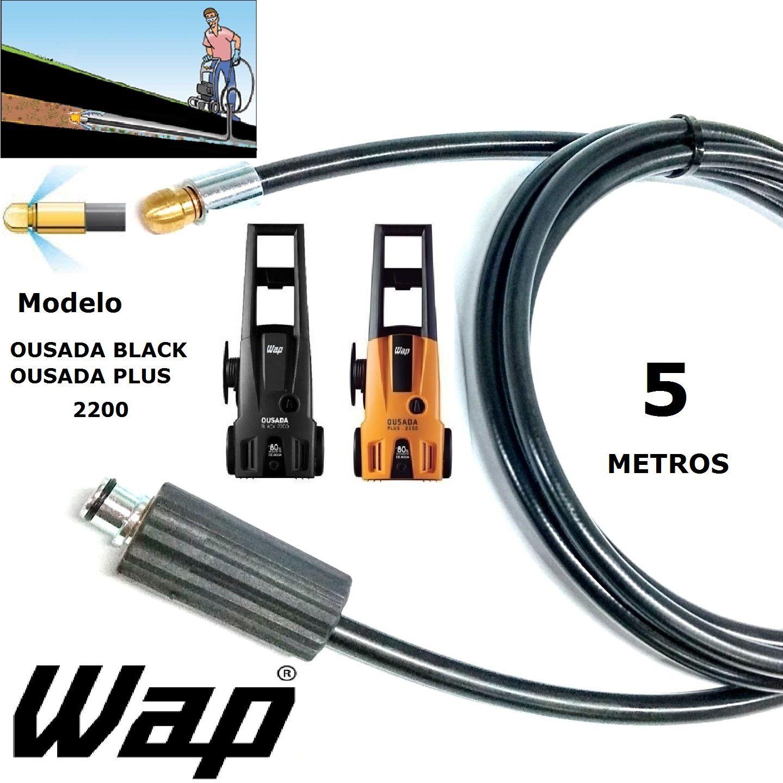 Mangueira desentupidora de tubulação WAP - 5 Metros - Wap OUSADA BLACK PLUS 2200