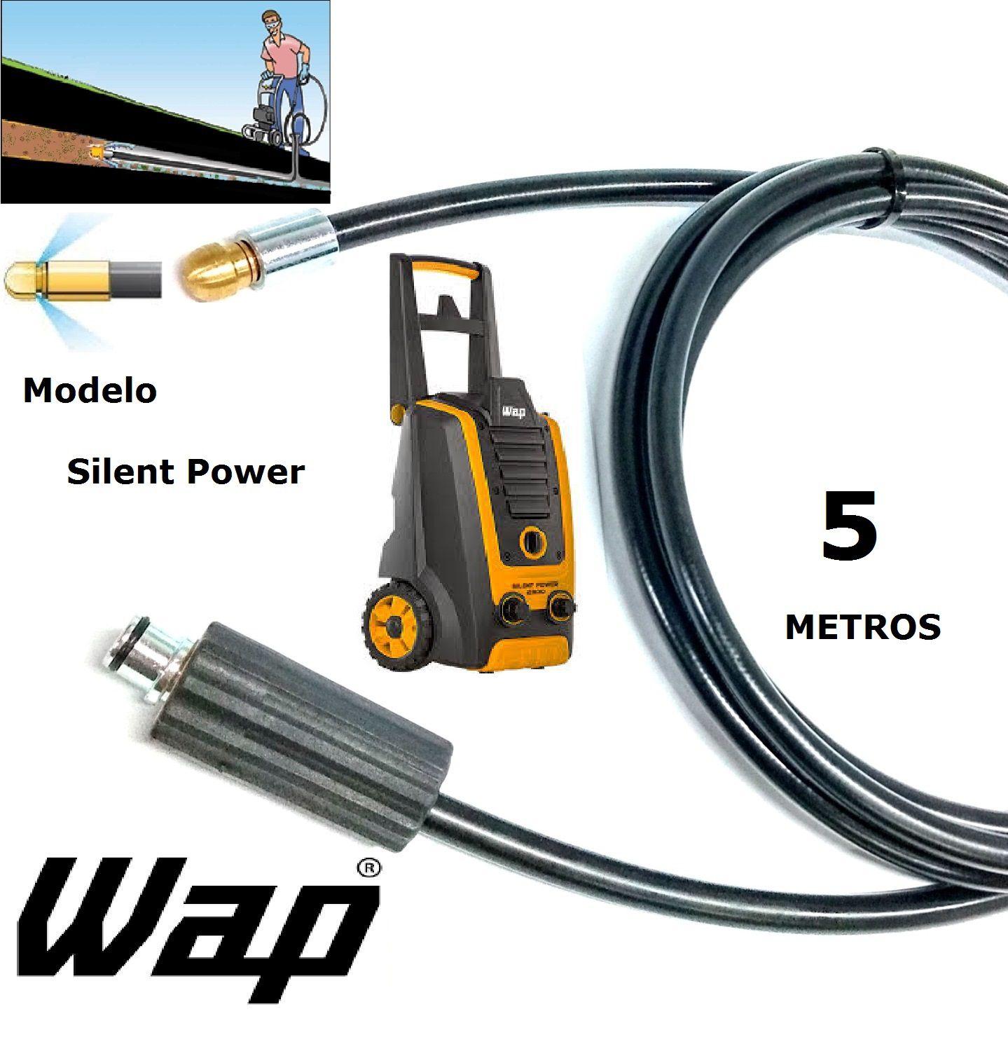 Mangueira desentupidora de tubulação WAP - 5 Metros - Wap SILENT POWER