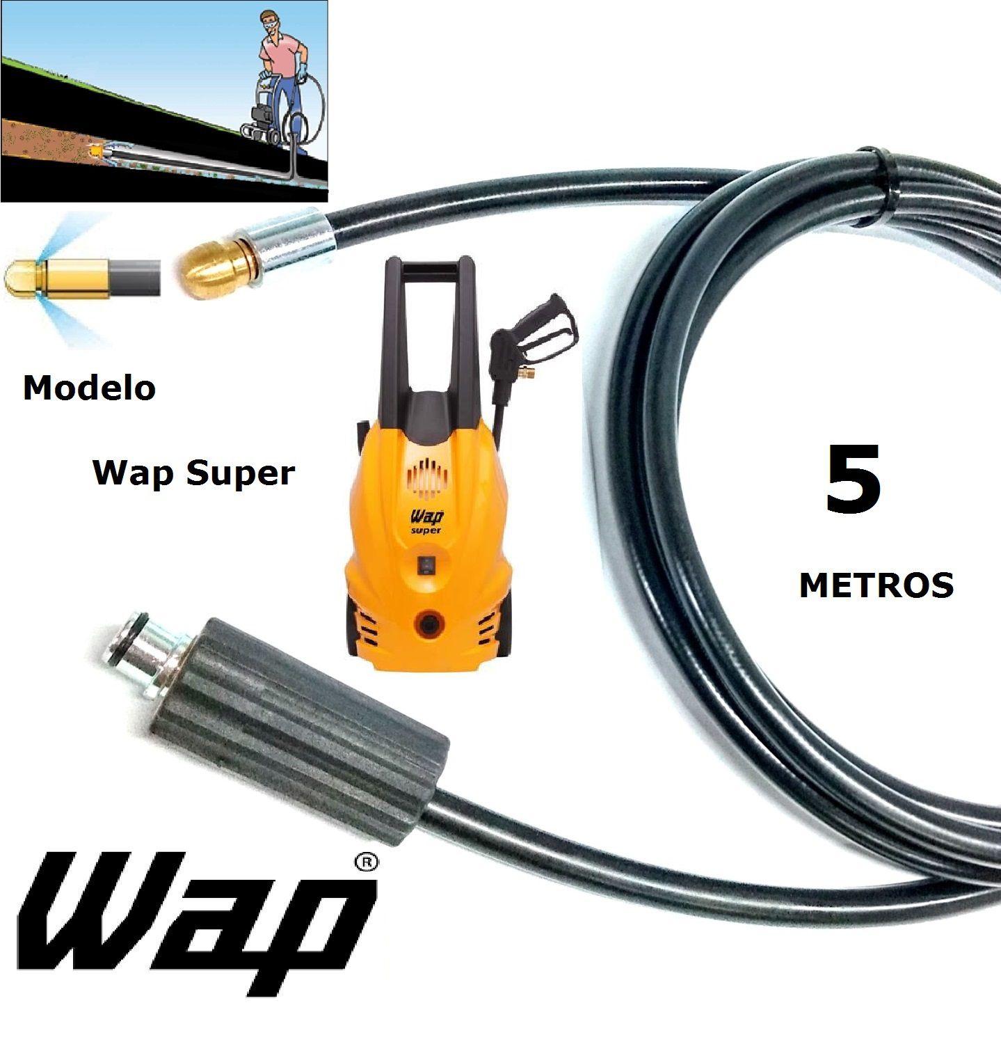 Mangueira desentupidora de tubulação WAP - 5 Metros - Wap SUPER
