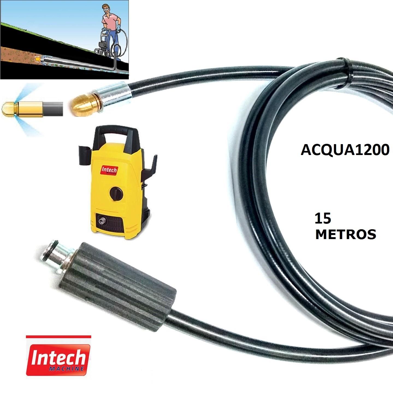 Mangueira Desentupidora Esgoto 15 Metros ACQUA 1200 Intech Machine