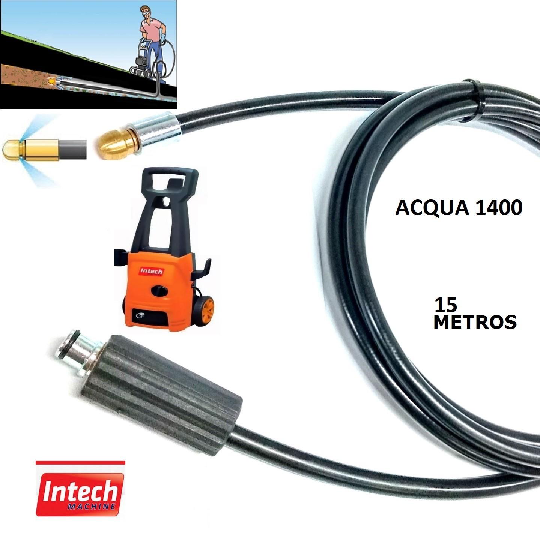 Mangueira Desentupidora Esgoto 15 Metros ACQUA 1400 Intech Machine