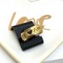 Anel aliança em aço inoxidável dourada TE AMO 8mm