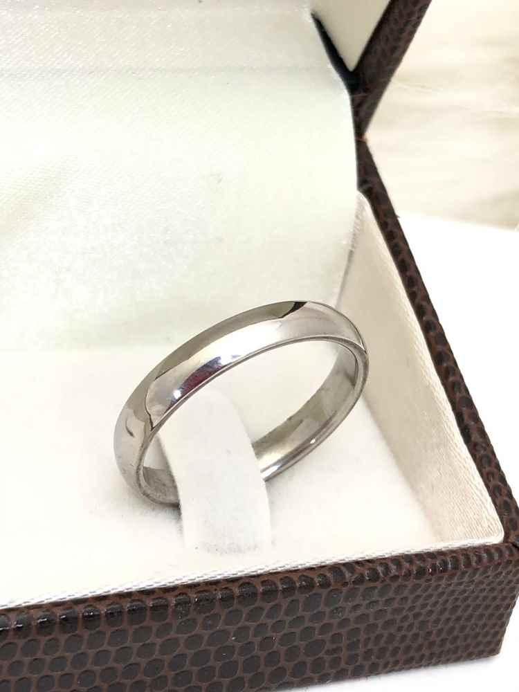 Anel aliança em aço inoxidável prata 4mm