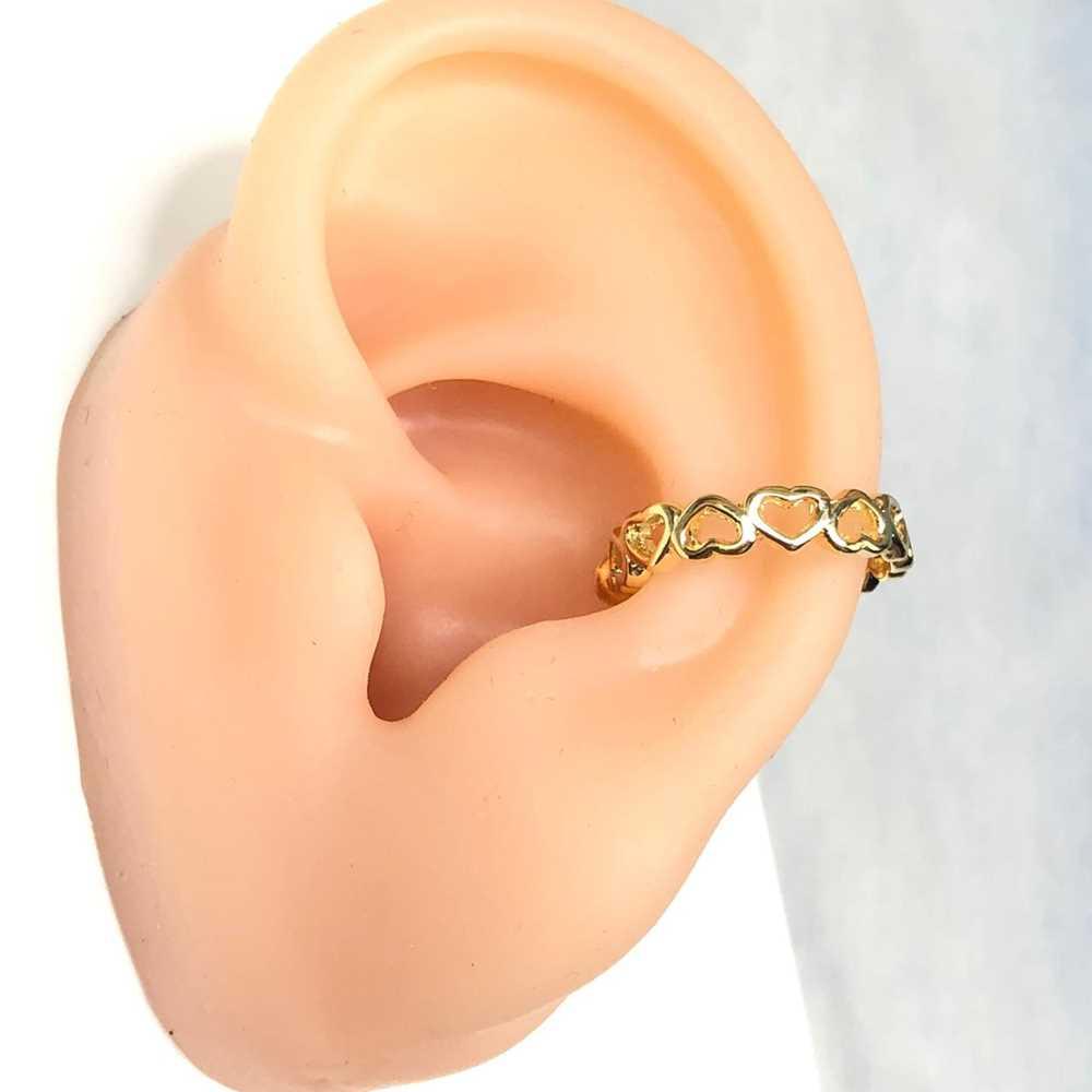 Brinco para cartilagem argolinha corações vazado piercing fake para cartilagem semijoia