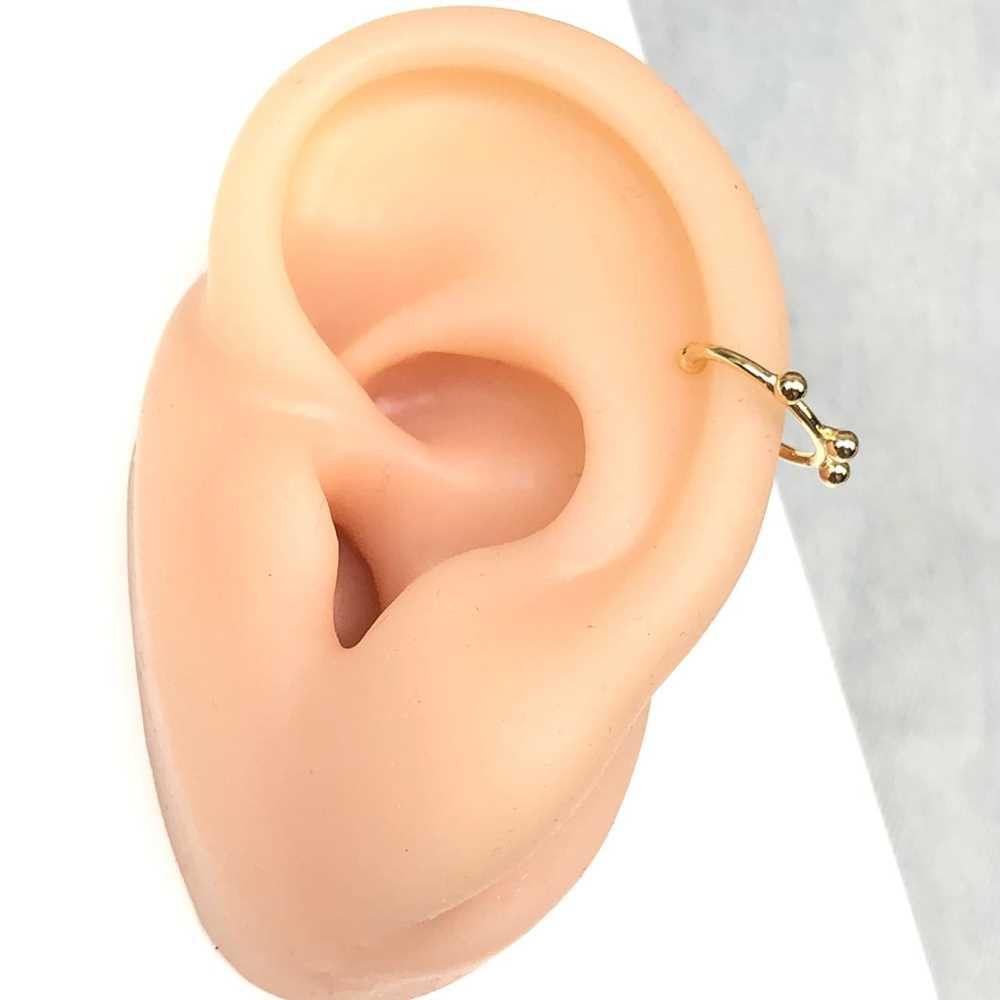 Brinco para cartilagem argolinha estilo spikes piercing fake para cartilagem semijoia