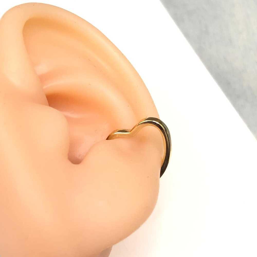 Brinco para cartilagem coração piercing para cartilagem fake semijoia