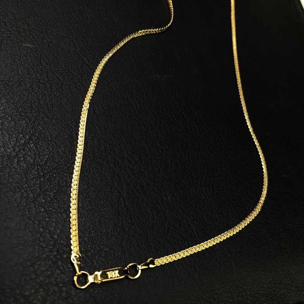 Corrente masculina dourada banhada groumet fechado 3mm aço inox 70cm