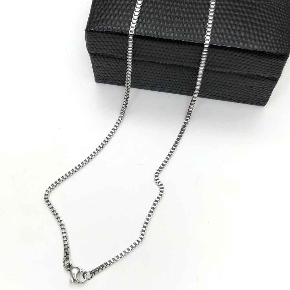Corrente masculina prata veneziana aço inoxidável 2mm - 60cm