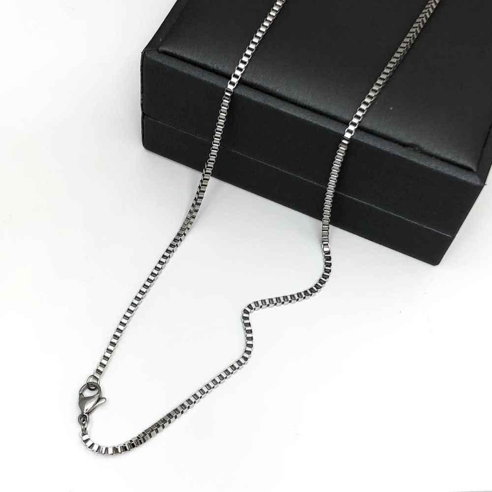 Corrente masculina prata veneziana aço inoxidável 2mm - 70cm