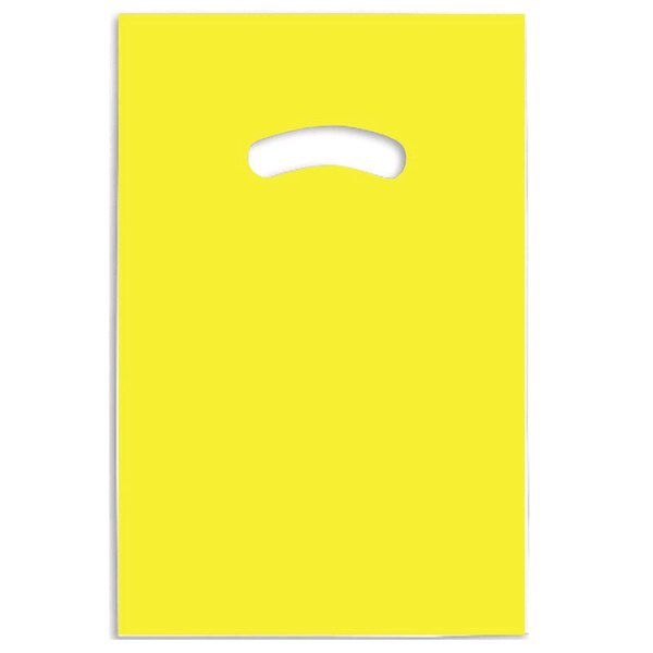Embalagem Para Bijuterias Dourada Embalagem Para Bijuteria Amarela 15x20cm 10 Unidades - Sacola plástica alça vazada
