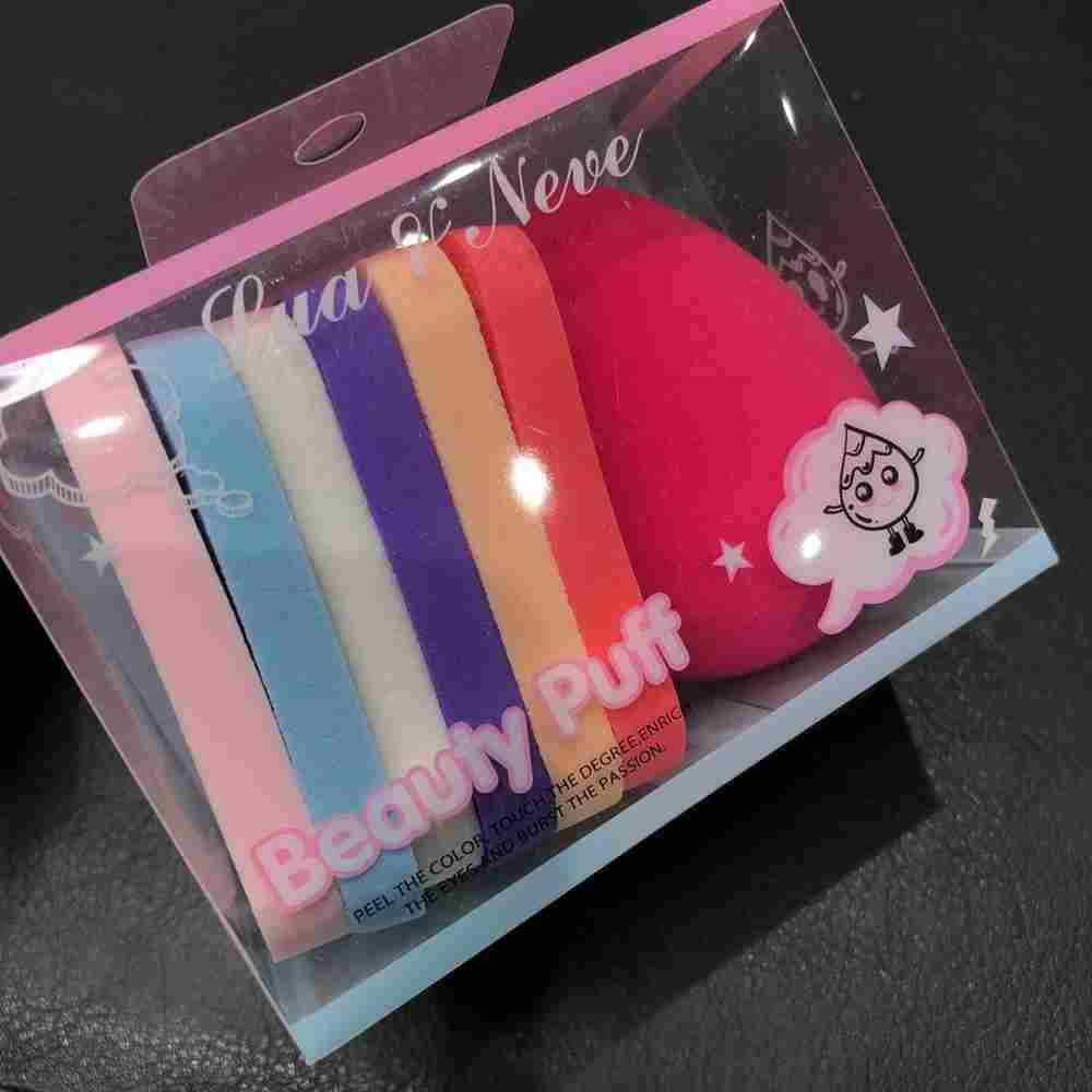 Esponja para base gota estilo coxinha + 6 esponjinhas quadradas
