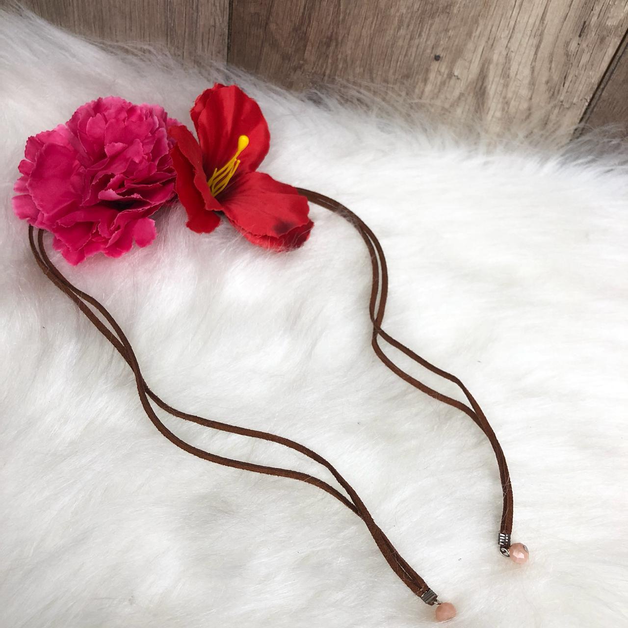 Headband Flores Tiara de Flor e Tulipa Rosa e Vermelho - Diamante ... 1c706245451