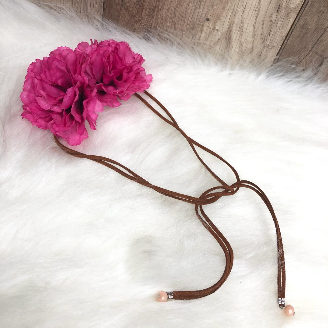Headband Flores Tiara de Flores Rosa - Diamante Rosa Shop Atacado de ... d4711ce1a4c