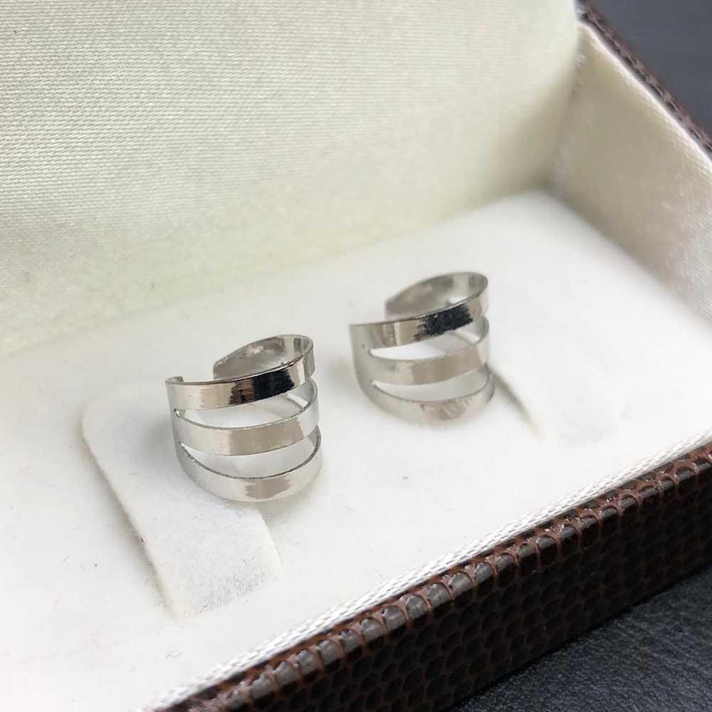 Piercing fake argolinha para cartilagem fio de prata em aço inoxidável (par)