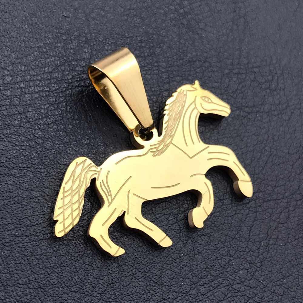 Pingente de dourado prata cavalo country cowboy