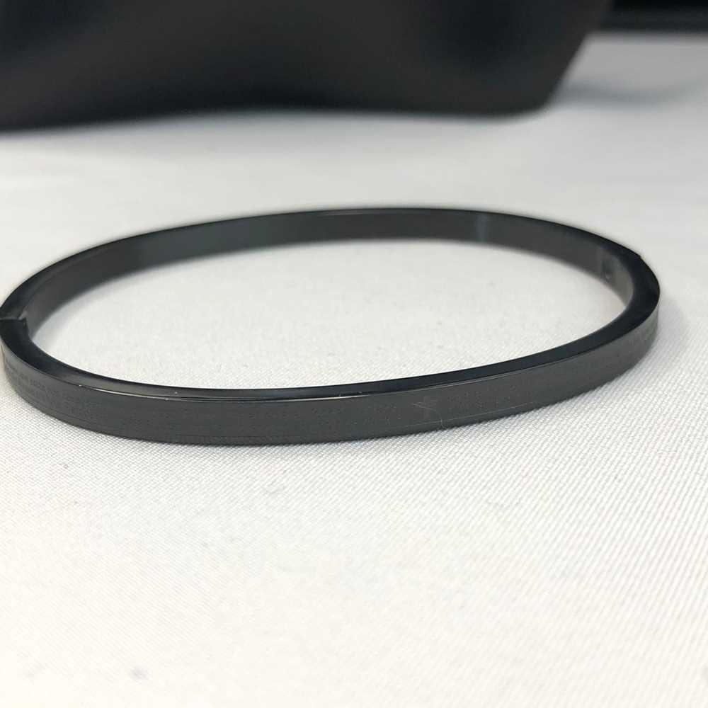 Pulseira Bracelete Masculina Oração do Pai Nosso Preta 4mm Aço Inoxidável