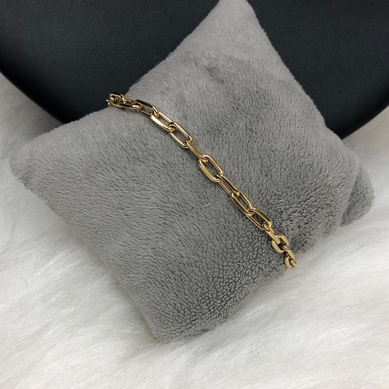 f85c2f53da2 Pulseira Masculina Cartier Aço Inox Dourado - Diamante Rosa Shop ...