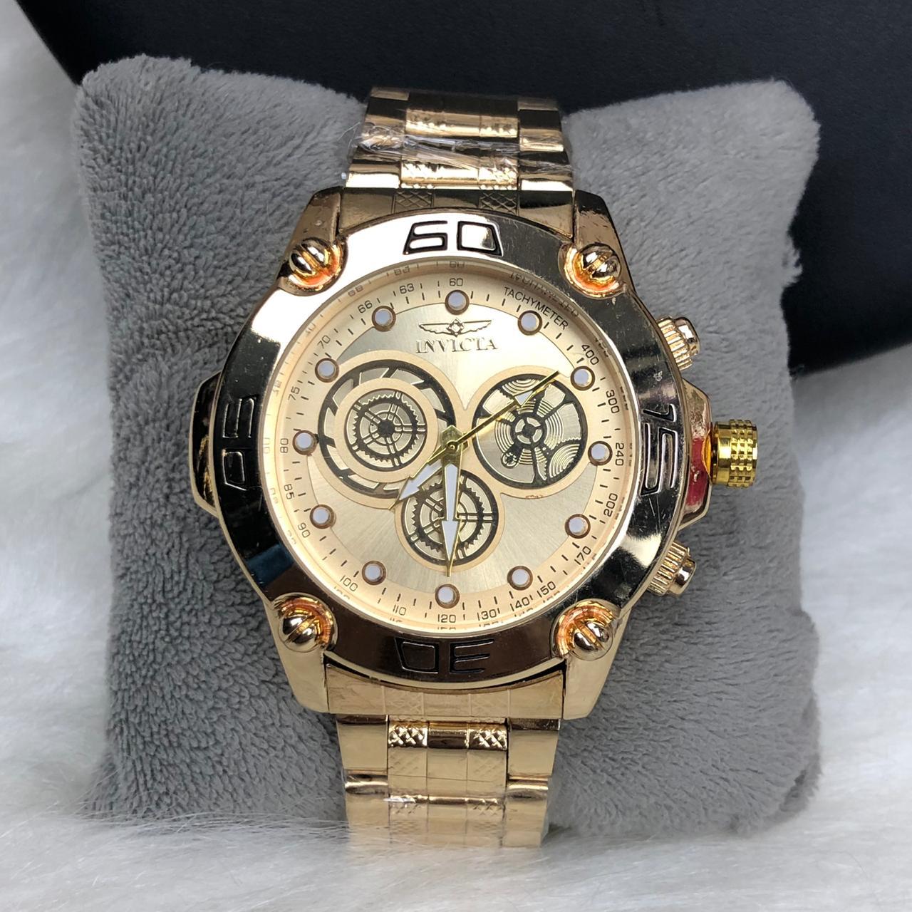 a18f3ca43eb Relógio Masculino Dourado Fundo Dourado - Diamante Rosa Shop Atacado ...