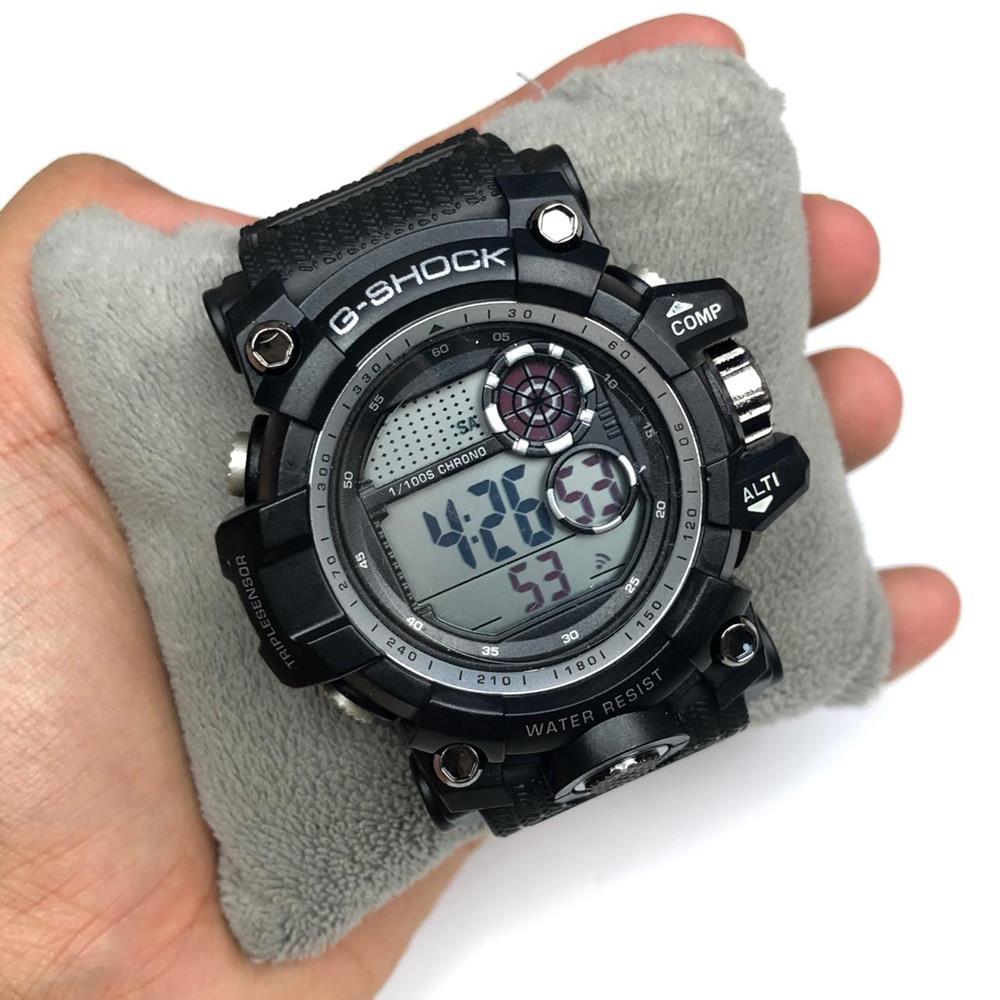 5ffd422887b Relógio Masculino Gshock Militar Preto Detalhe Prata - Diamante Rosa ...