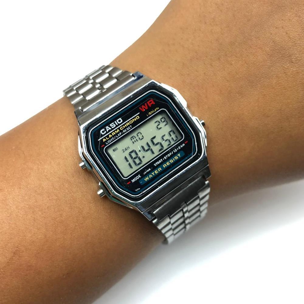 d8810a4522d Relógio Unissex Vintage Prata - Diamante Rosa Shop Atacado de ...