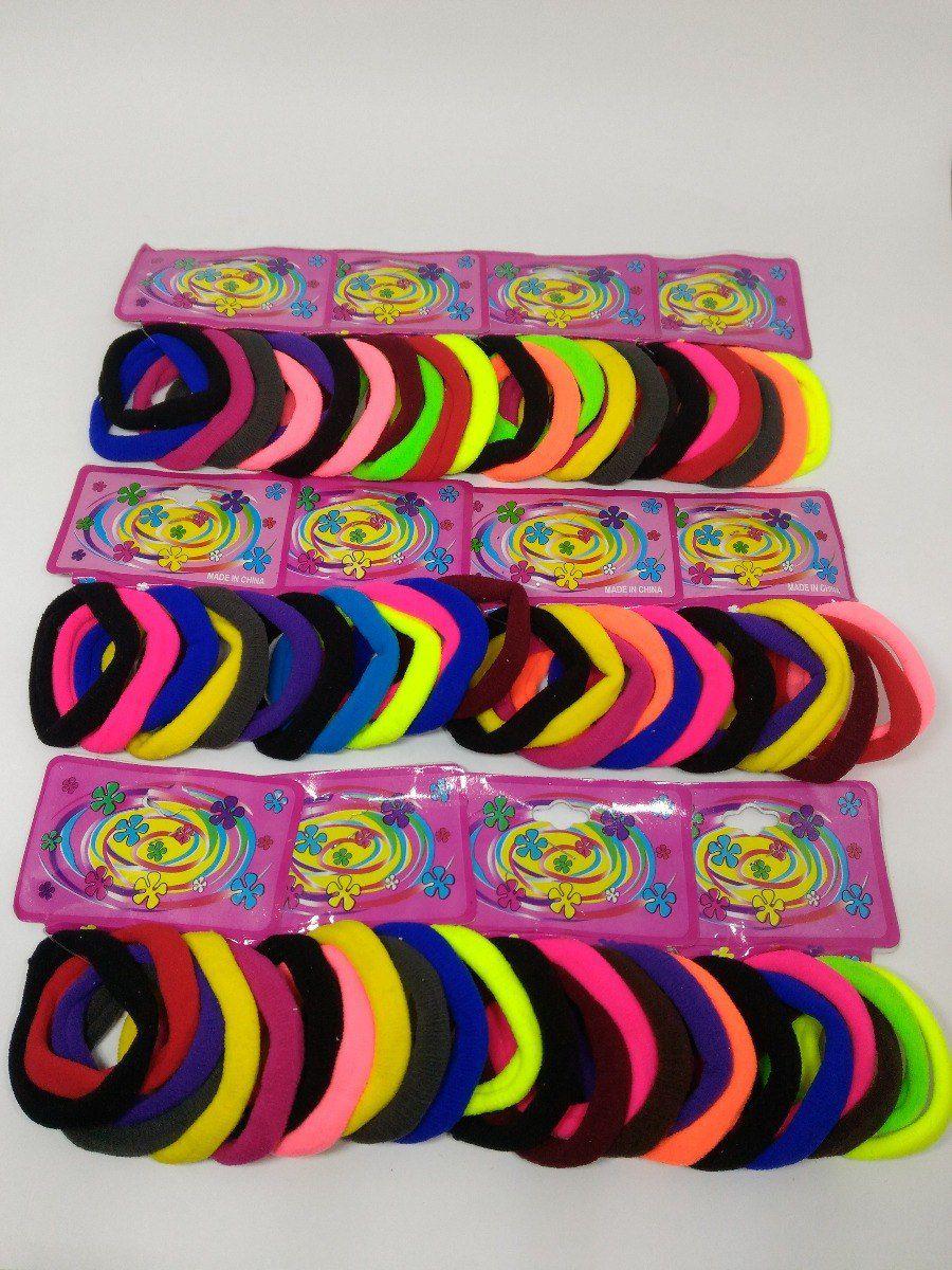 Xuxinha de Cabelo Elástico de Cabelo Pacote Com 72 Unidades Coloridas