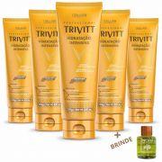 05 Máscaras Hidratação Intensiva Trivitt 250 Gramas + Brinde