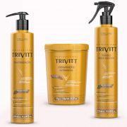 Cauterização Trivitt + Máscara 1kg + Fluido Escova Itallian