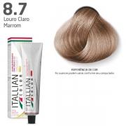 COLORAÇÃO ITALLIAN COLOR 60G LOURO CLARO MARROM 8.7