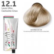 COLORAÇÃO ITALLIAN COLOR 60G LOURO ULTRA CLARÍSSIMO CINZA 12.1