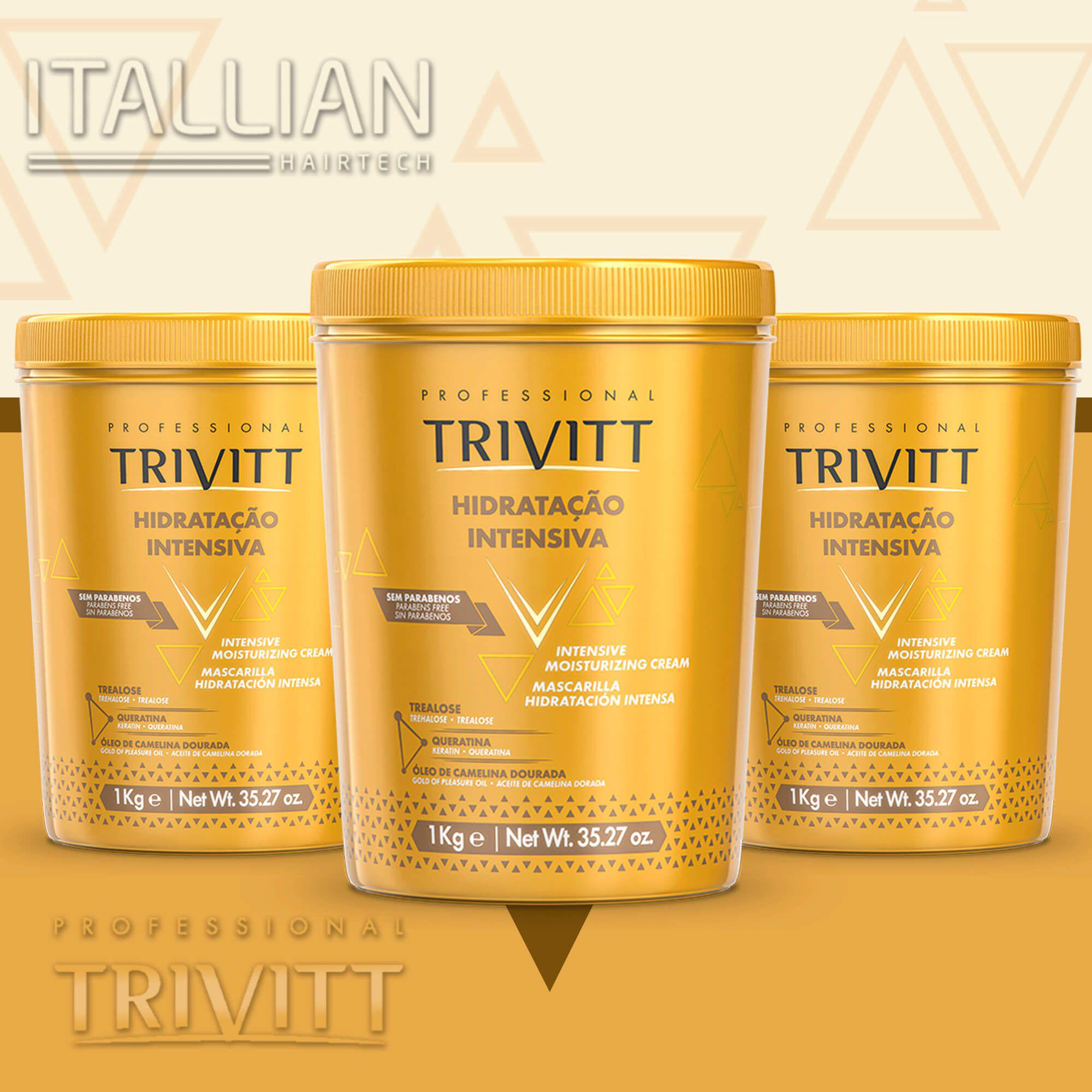 3 Máscaras Hidratação Trivitt Nº3 1kg + 01 De 250 Gr Brinde