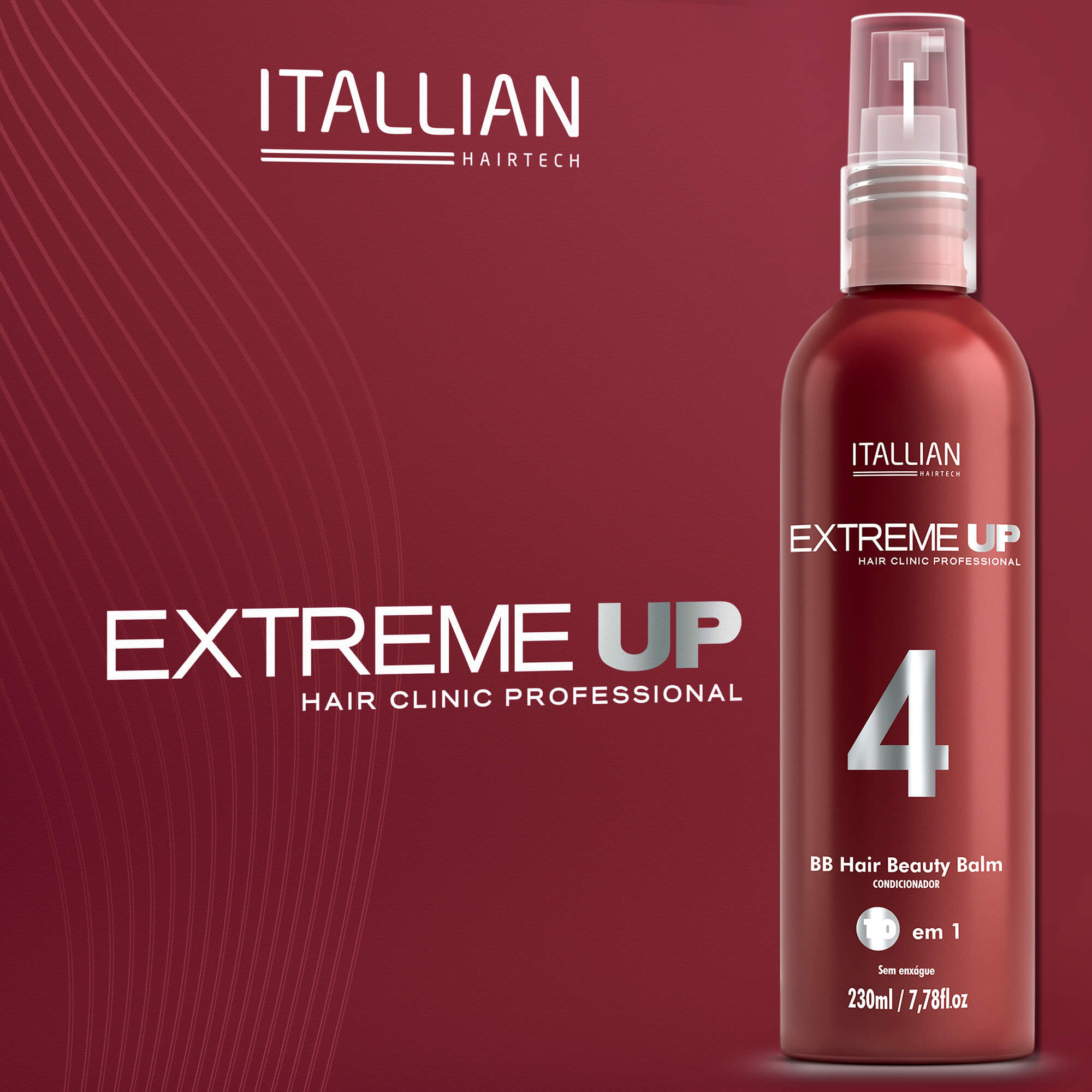Bb Hair Beauty Balm Extreme Up 4 - Itallian 230ml