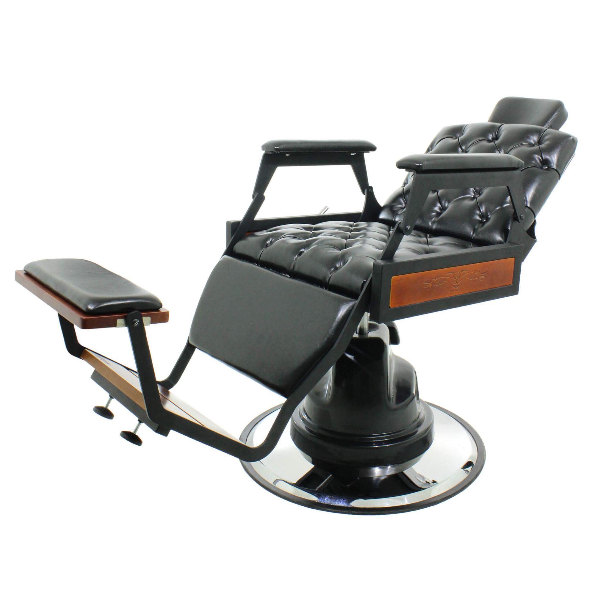 Cadeira Barbeiro Hawk Encosto Com Articulação Total - Kixiki