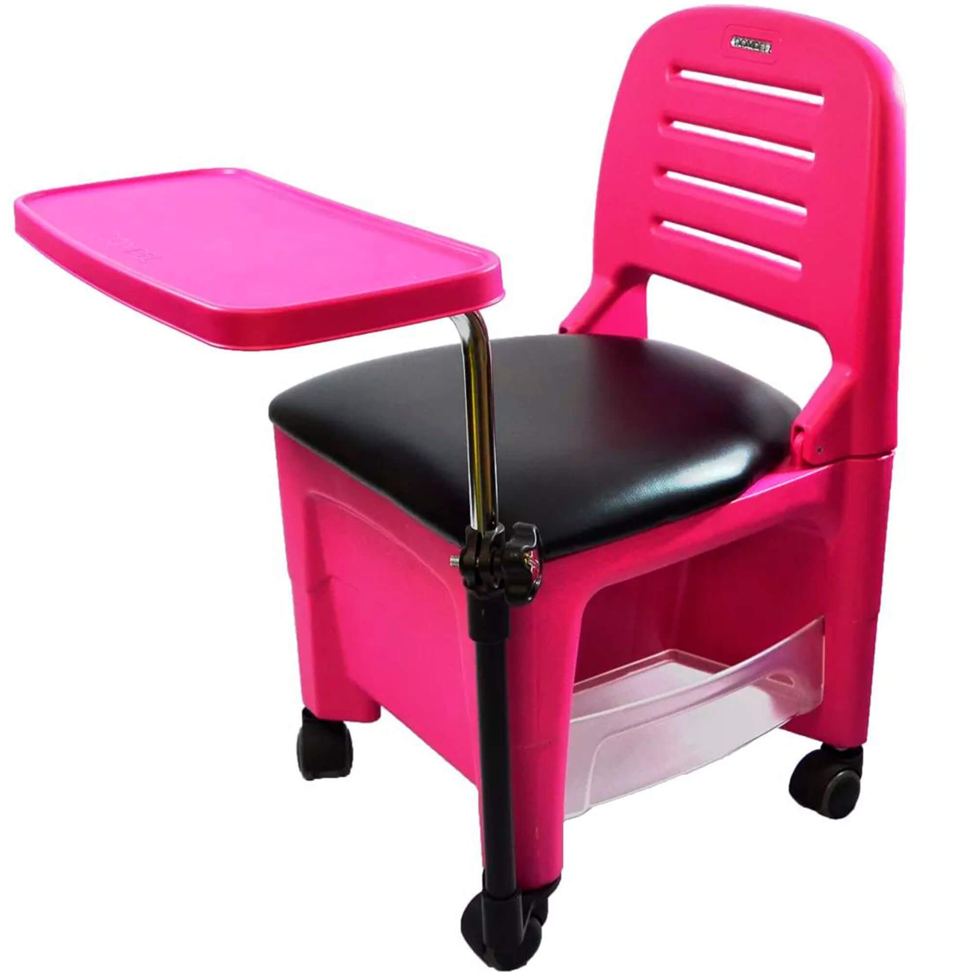 Cadeira Móvel Para Manicure - Dompel Ciranda (rosa)