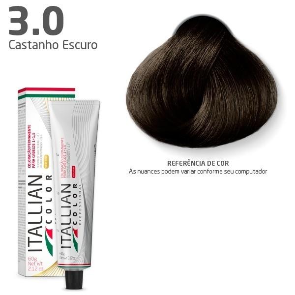 COLORAÇÃO ITALLIAN COLOR 60G CASTANHO ESCURO 3.0