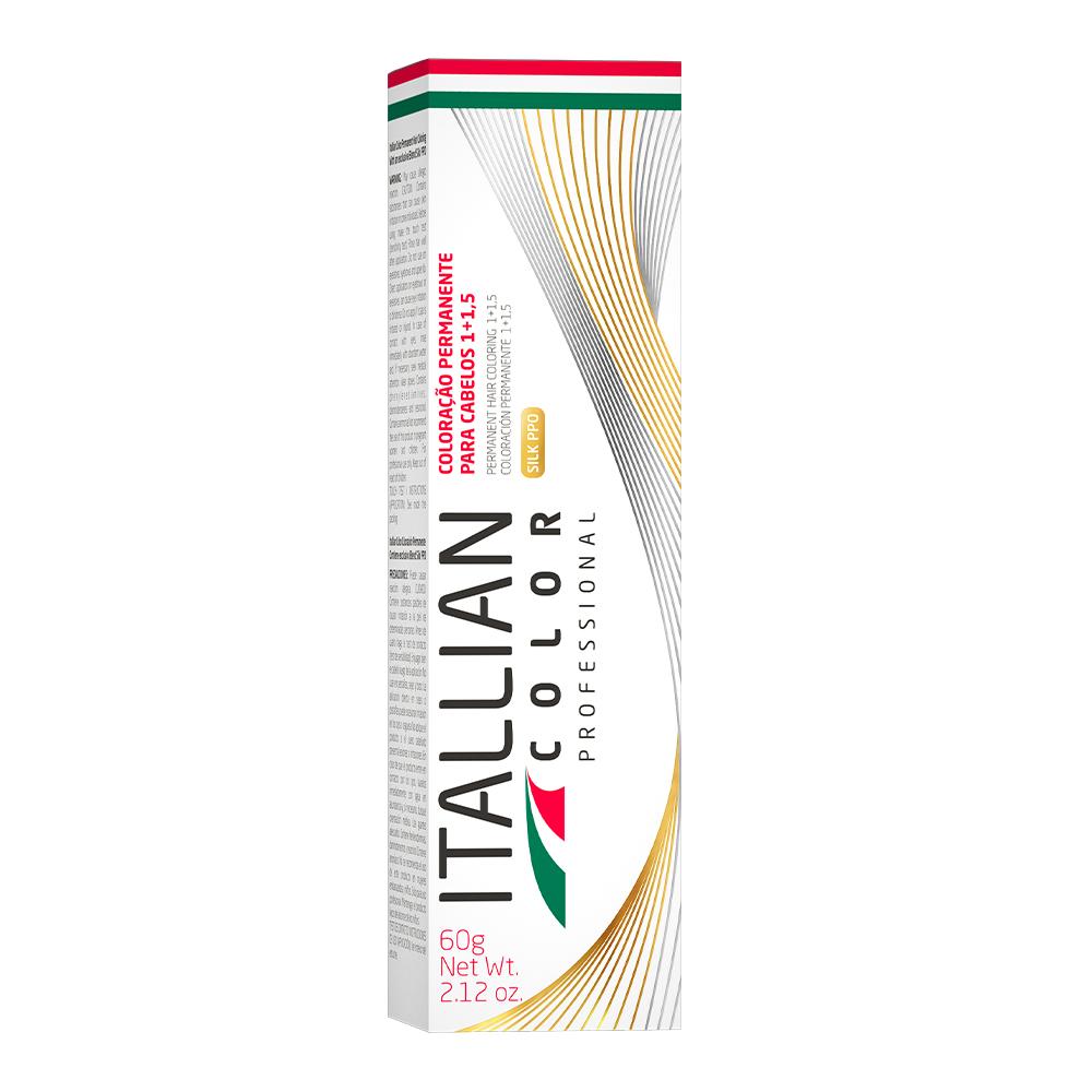 COLORAÇÃO ITALLIAN COLOR 60G LOURO ESCURO CINZA MARROM 6.17