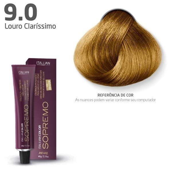 COLORAÇÃO ITALLIAN COLOR SOPREMO LOURO CLARÍSSIMO 9.0 60G