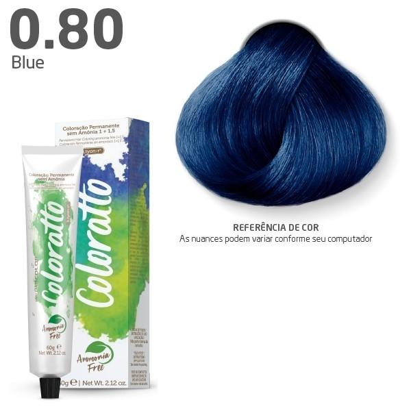 COLORAÇÃO SEM AMÔNIA COLORATTO 60G BLUE 0.80